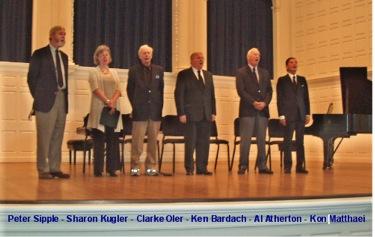 Peter Sipple, Sharon Kugler, Clarke Oler, Ken Bardach, Al Altherton, and Kon Mattaei