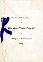 Invitation for the First Official Dinner of The Six Little Lambs